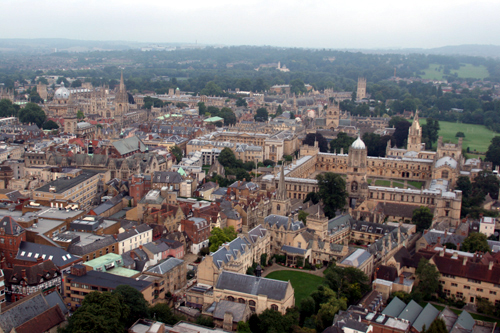 Oxford from lift-off