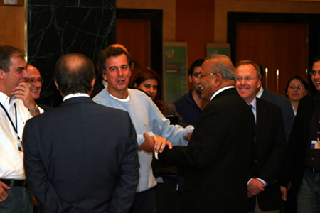 Flag ceremony handshakes