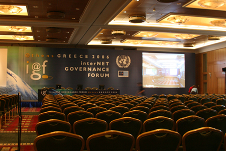 IGF main room empty