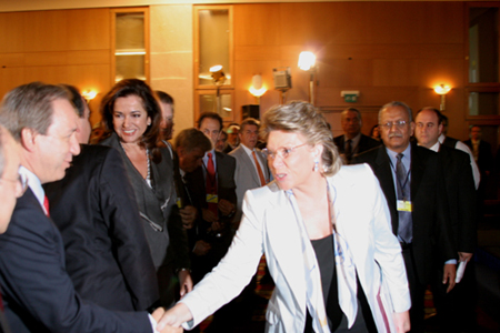 Viviane Reding and Greek ministers