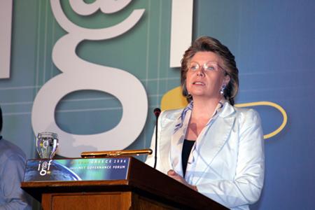 Reding podium