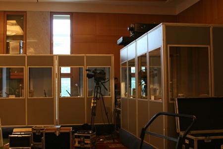 Translator booths