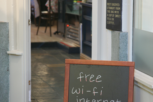 Free WiFi at the coffee hop