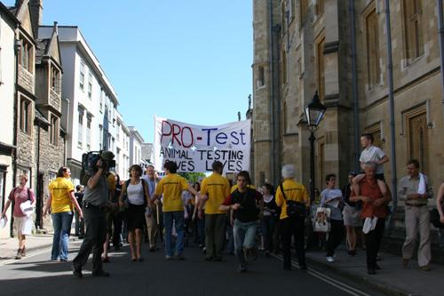 Pro-Test march Holywell St