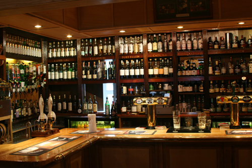 Whisky bar in Bowmore