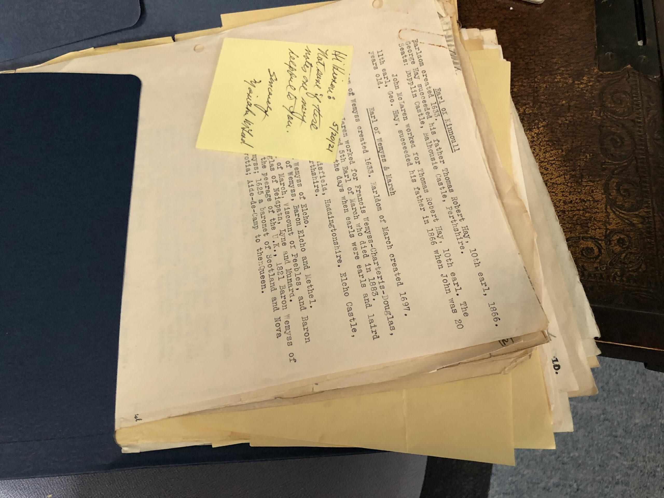McLeod book notes